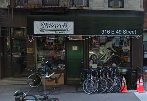 Kickstand Bicycles New York Usa City Yellow Pages
